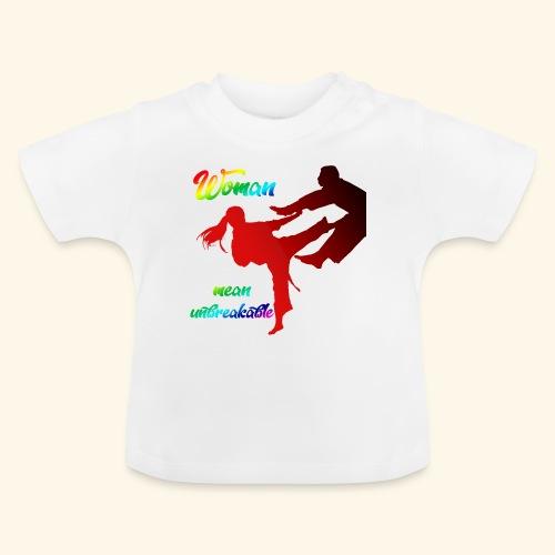 woman mean unbreakable - Maglietta per neonato