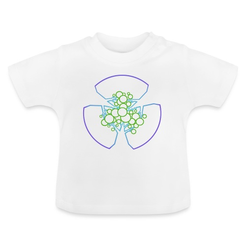 Drei Bäume, blau-grün - Baby T-Shirt