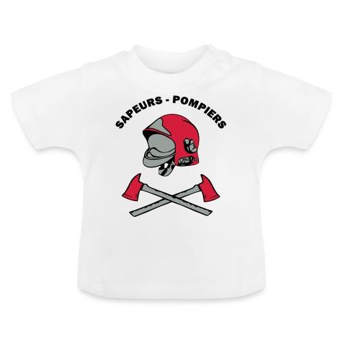 Sapeurs Pompiers petites haches casque Coul - T-shirt Bébé