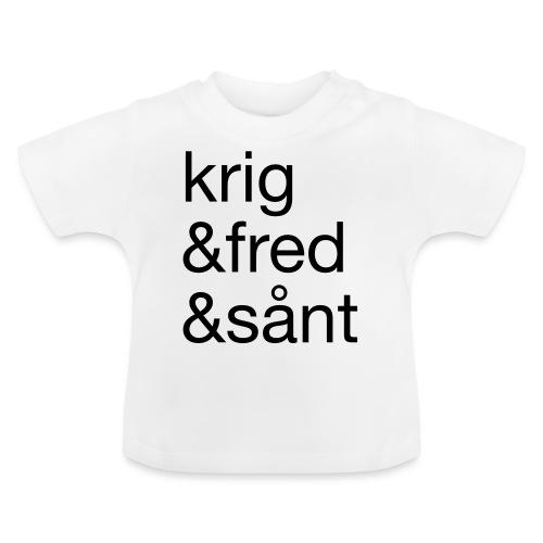 krig&fred&sånt - fra Det norske plagg - Baby-T-skjorte