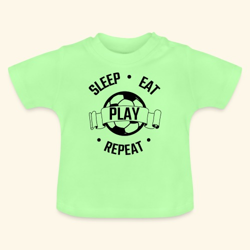 FOOTBALL soccer - Eat sleep play repeat - ballon - T-shirt Bébé