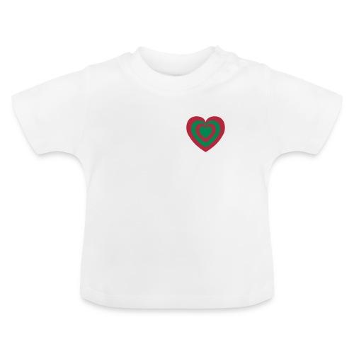 cuore Rosso-Verde - Maglietta per neonato