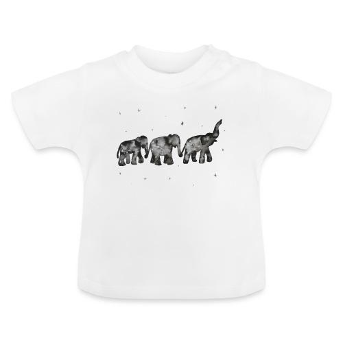 Akwarelowe słoniki - Koszulka niemowlęca