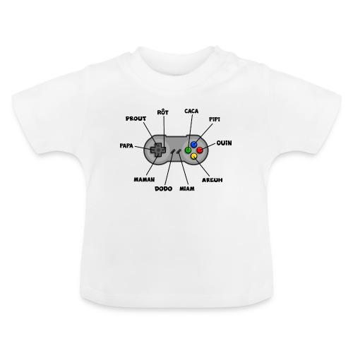 Bébé aux commandes - noir - T-shirt Bébé
