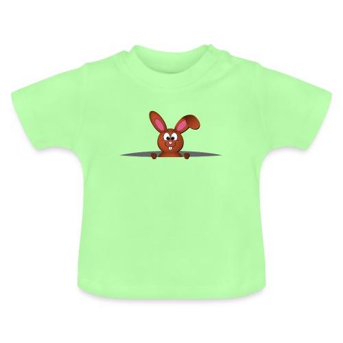 Cute bunny in the pocket - Maglietta per neonato