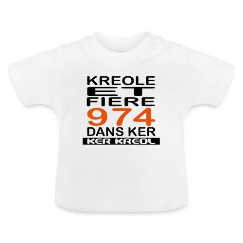 974 ker kreol - Kreole et Fiere - T-shirt Bébé