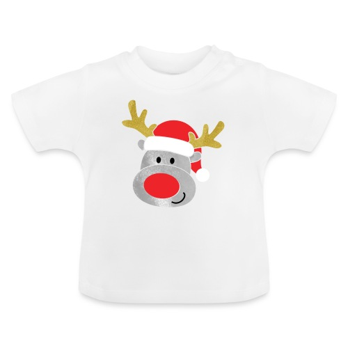 Christmas Reindeer for boys, just add kids name - Baby T-Shirt