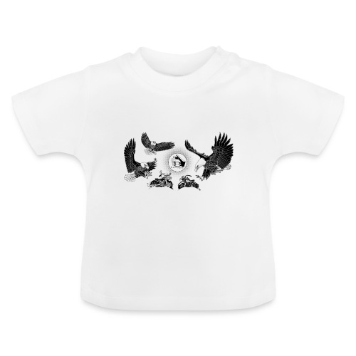 Three Eagles dancing for two bikes. - Baby T-shirt