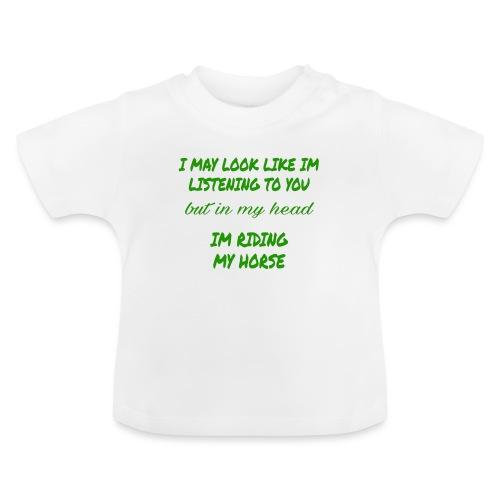 Riding my horse green - Baby-T-shirt