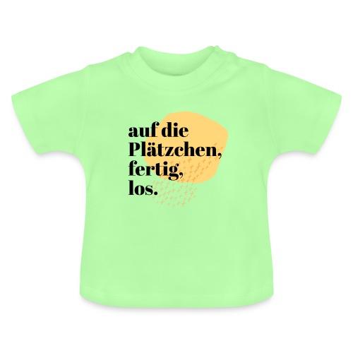 Auf die Plätzchen, fertig, los. Aquarell - Baby T-Shirt