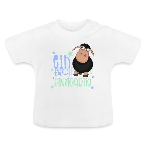 Einfach einzigartig: schwarzes Schaf kleines Schaf - Baby T-Shirt
