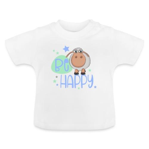 Be happy Schaf - Glückliches Schaf - Glücksschaf - Baby T-Shirt