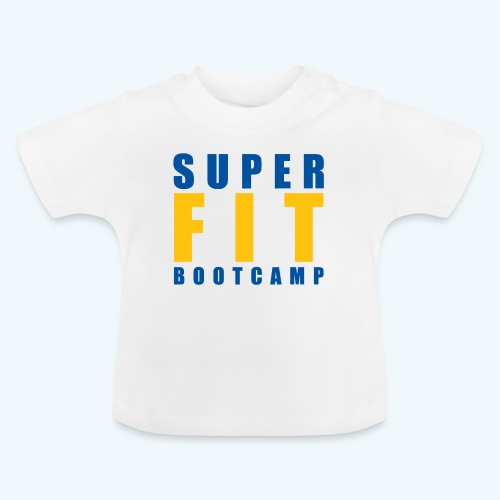 White Products inc Yellow & Blue Superfit LOGO - Baby T-Shirt
