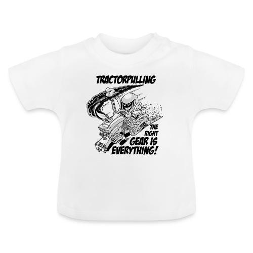 0966 tractorpulling BW - Baby T-shirt