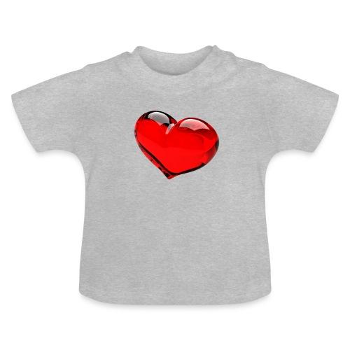 serce 3D - Koszulka niemowlęca