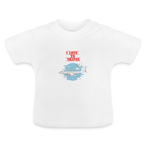 I Love To Travel - Maglietta per neonato