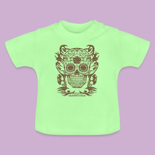 SKULL FLOWERS LEO - Baby T-Shirt
