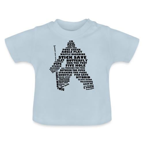 Language of Hockey (Goalie version, black print) - Baby T-Shirt