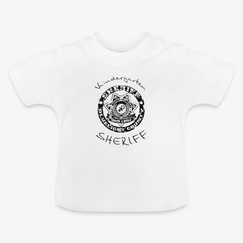 kindergarten sheriff schwarz - Baby T-Shirt
