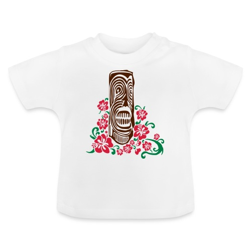 Tiki Totem with Hibiscus Flowers - Baby T-Shirt