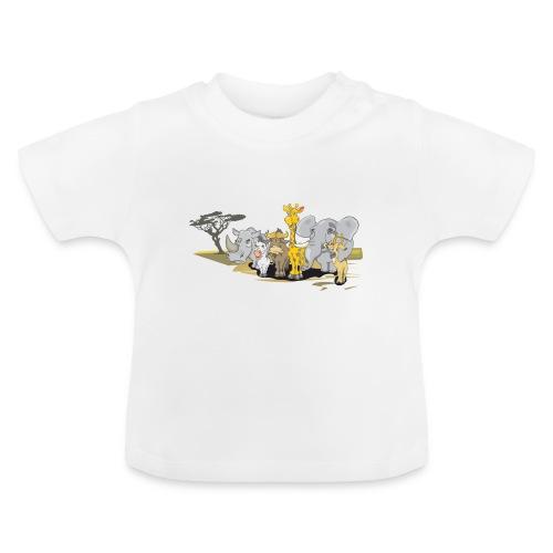 djungle animals - Baby-T-shirt