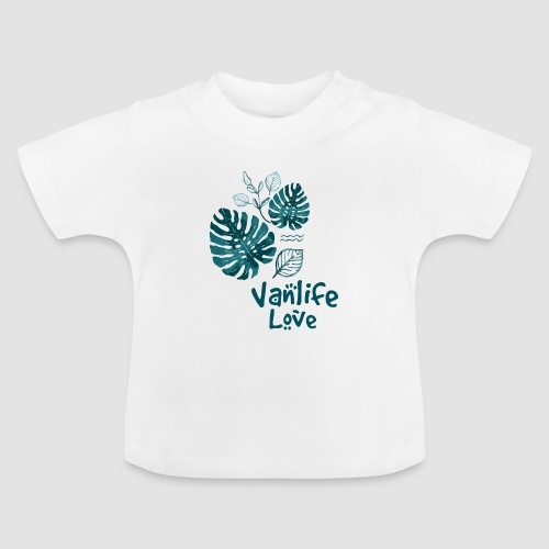 Vanlife Love Dschungelprint - Baby T-Shirt