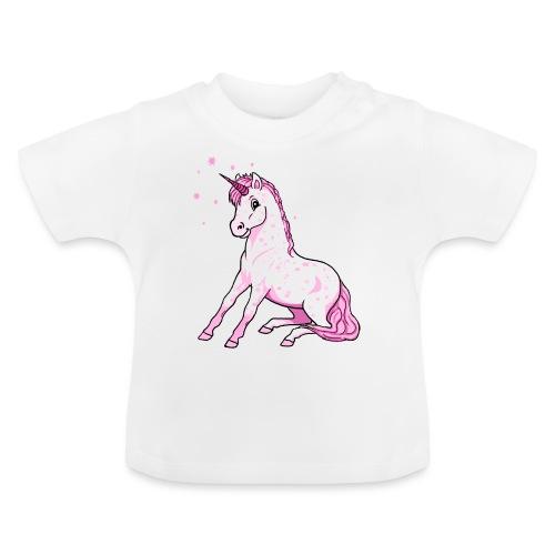 Pünktchen Einhorn Rosa - Baby T-Shirt