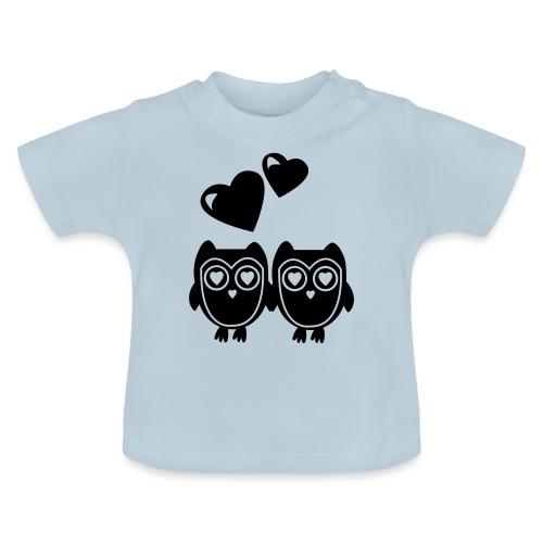 verliebte Eulen - Baby T-Shirt