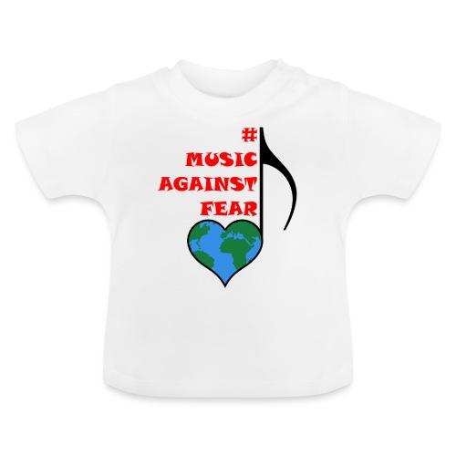 #MusicAgainstFear - Schwarz - Baby T-Shirt