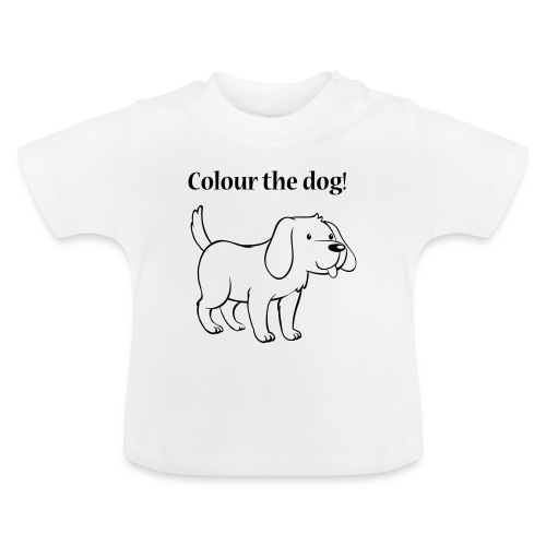 Colour the dog! - Baby T-Shirt