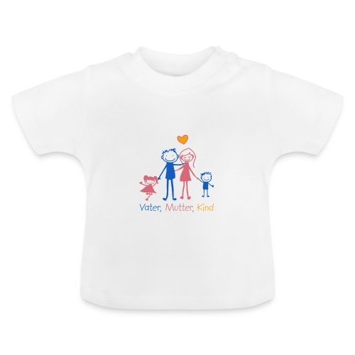 Vater, Mutter, Kind - Baby T-Shirt