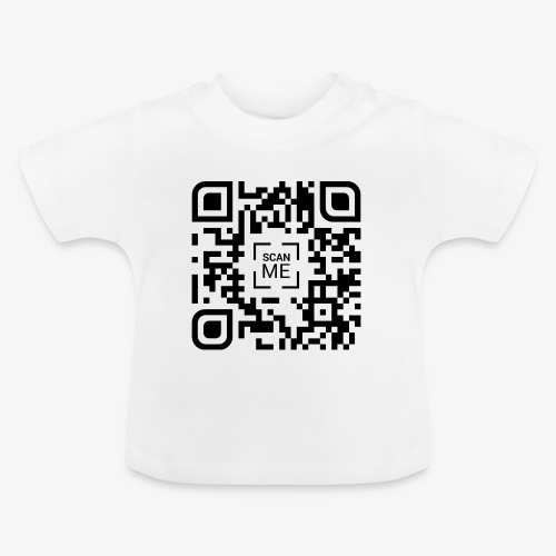 QR code (black) - Baby T-Shirt