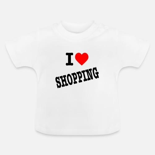 I Love Shopping (Ik Hou van Winkelen) - Baby T-shirt