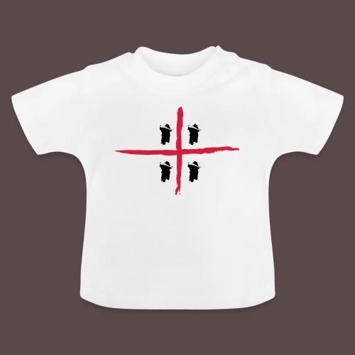 Sardegna Bendata, 4 Mori orizzontale - Maglietta per neonato