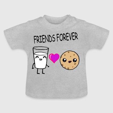 Lait et amis Cookie Kawaii Conception cadeau - T-shirt Bébé