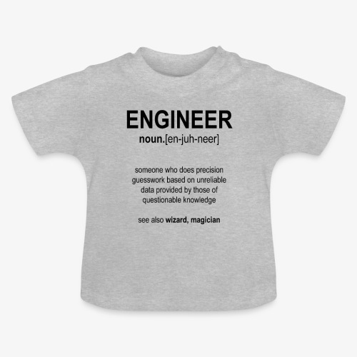 Engineer Def. 1 (Black) - T-shirt Bébé