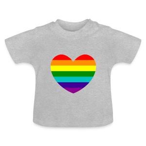 Hart in regenboog kleuren - Baby T-shirt