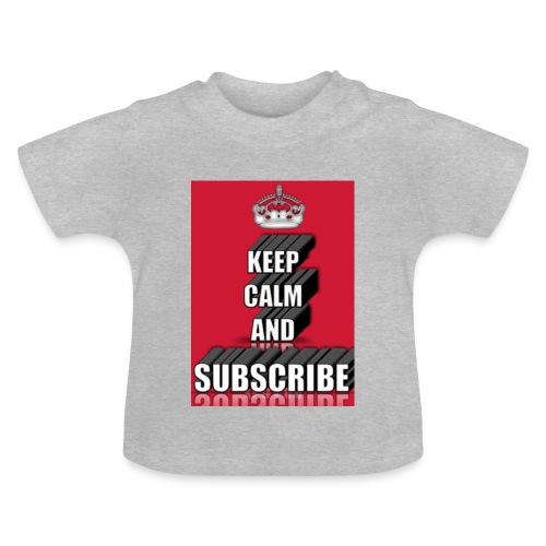 keep calm and subscribe logo - Baby T-Shirt