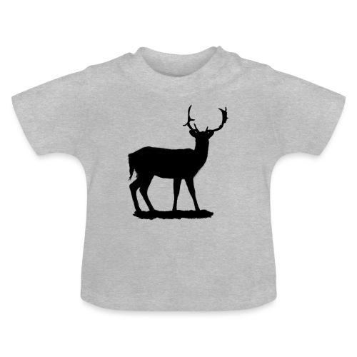 Silueta ciervo en negro - Camiseta bebé