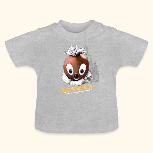 Pittiplatsch 3D Dresden auf dunkel - Baby T-Shirt