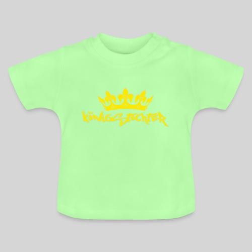Königstochter m. Krone über der stylischen Schrift - Baby T-Shirt
