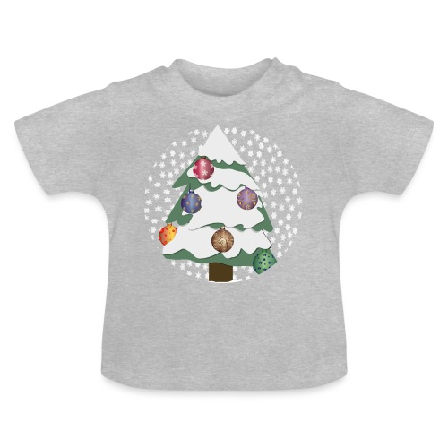Christmas tree in snowstorm - Baby T-Shirt