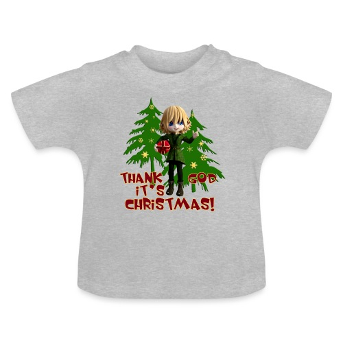 Weihnachtself Thank God it´s Christmas! - Baby T-Shirt