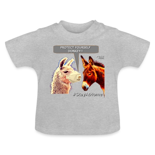 Protect Yourself Donkey - Coronavirus - Camiseta bebé