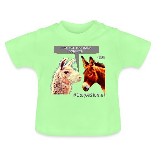 Protect Yourself Donkey - Coronavirus - Baby T-Shirt