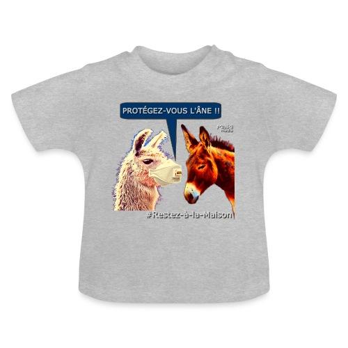PROTEGEZ-VOUS L'ÂNE !! - Coronavirus - T-shirt Bébé