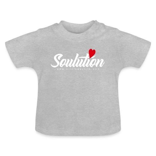 Soulution Logo – weiß - Baby T-Shirt