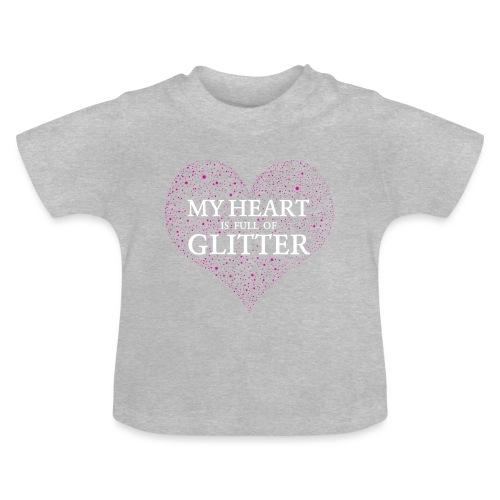 Herz Glitzer - Baby T-Shirt