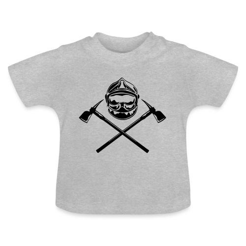 casque_pompier_deux haches - T-shirt Bébé
