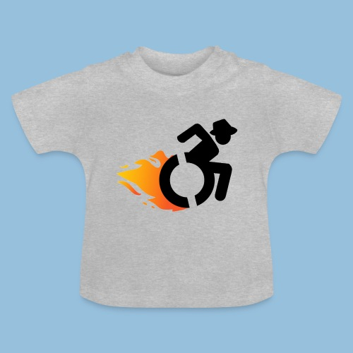 Roller met vlammen 016 - Baby T-shirt